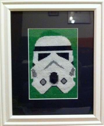 Storm Trooper Cross Stitch